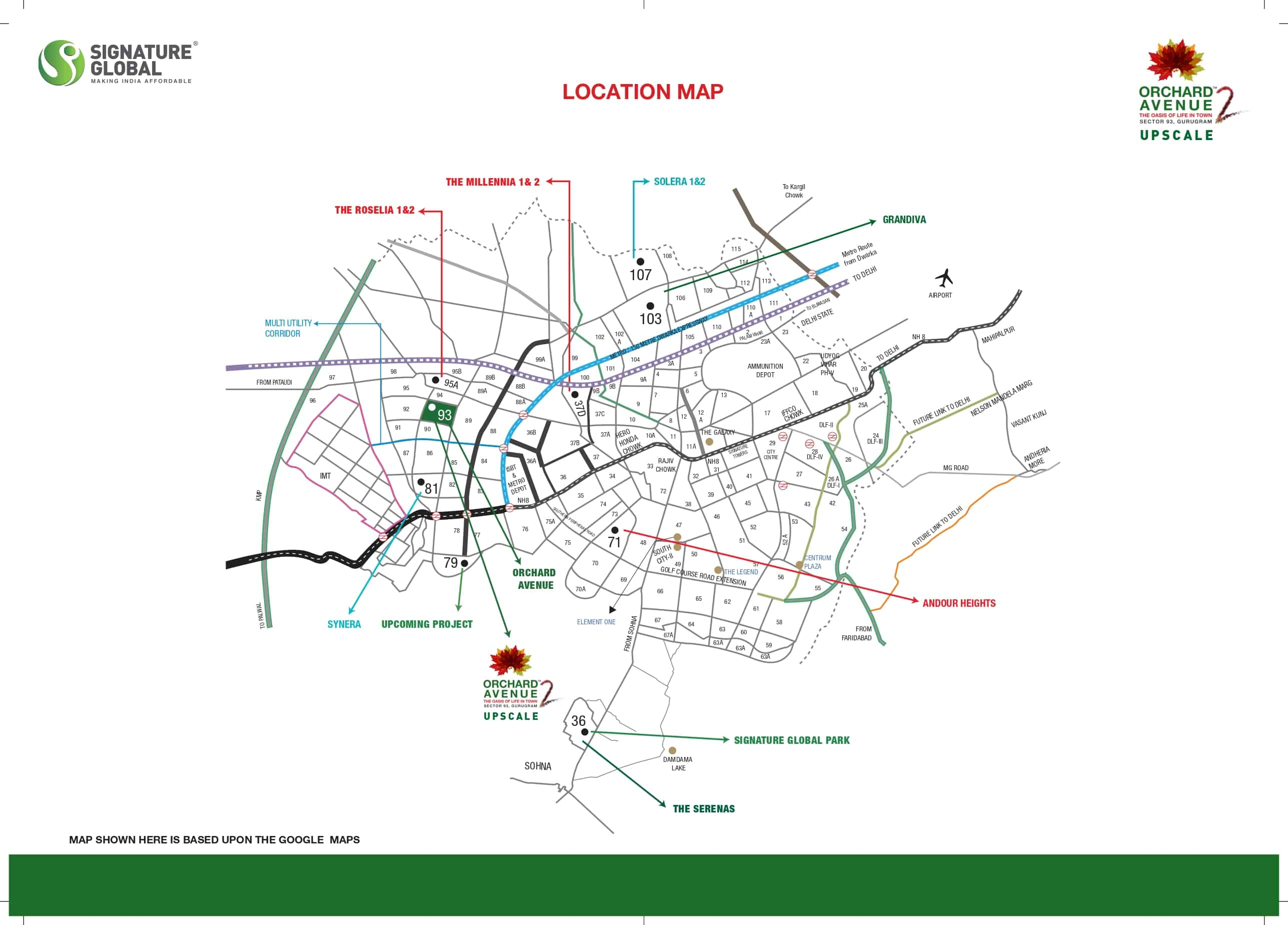Location Map Orchard avenue 2