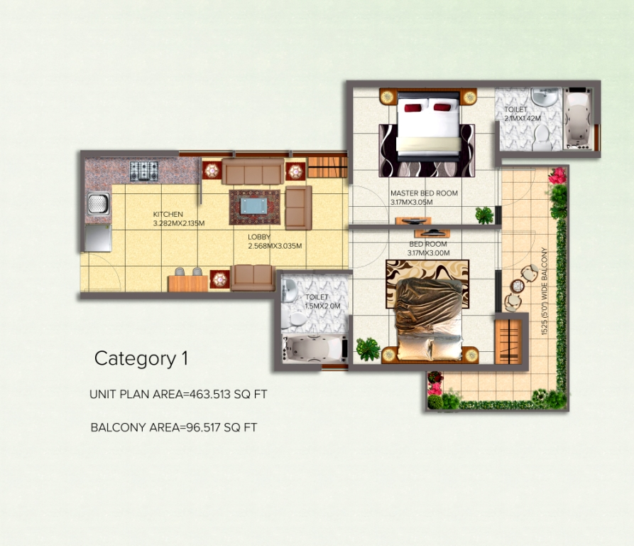 2BHK Category-1