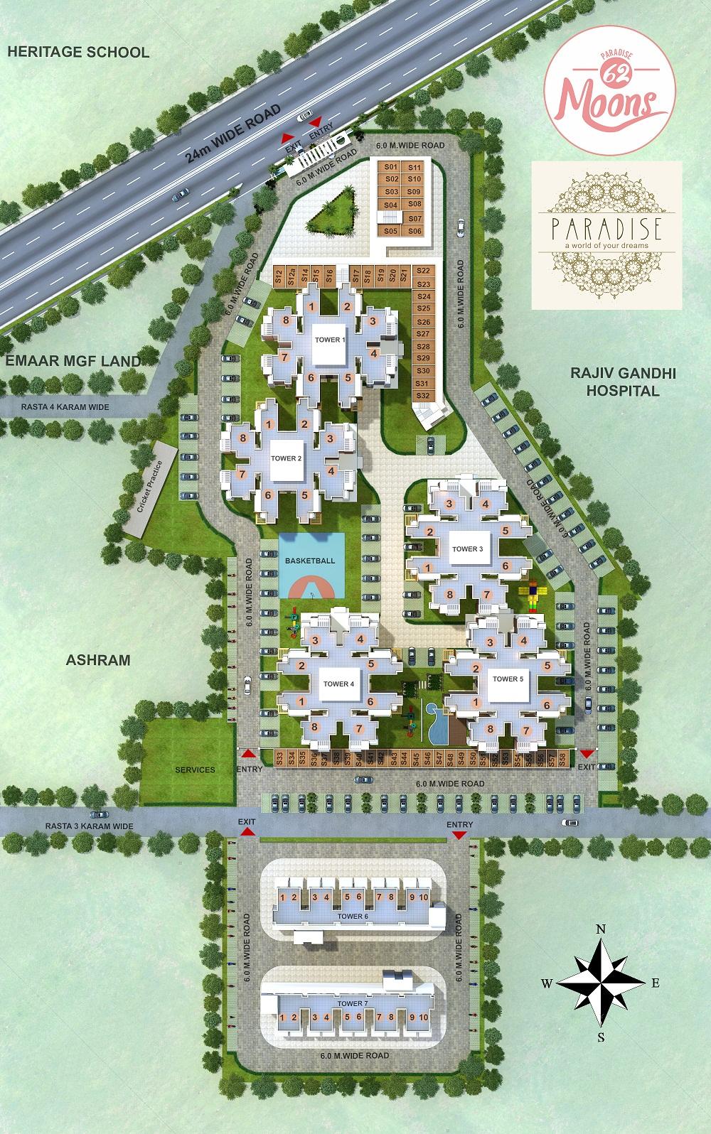 Pivotal Paradise Site plan