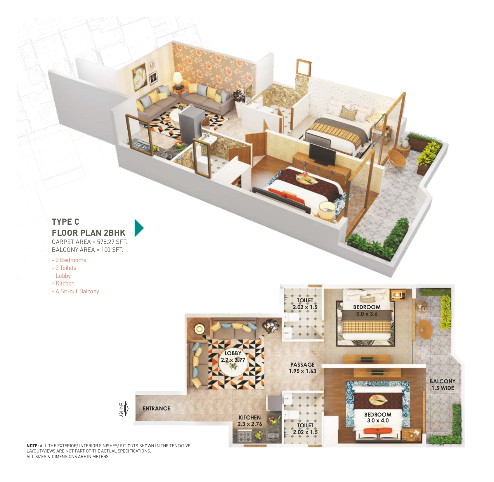 Pyramid Heights 2BHK Type C