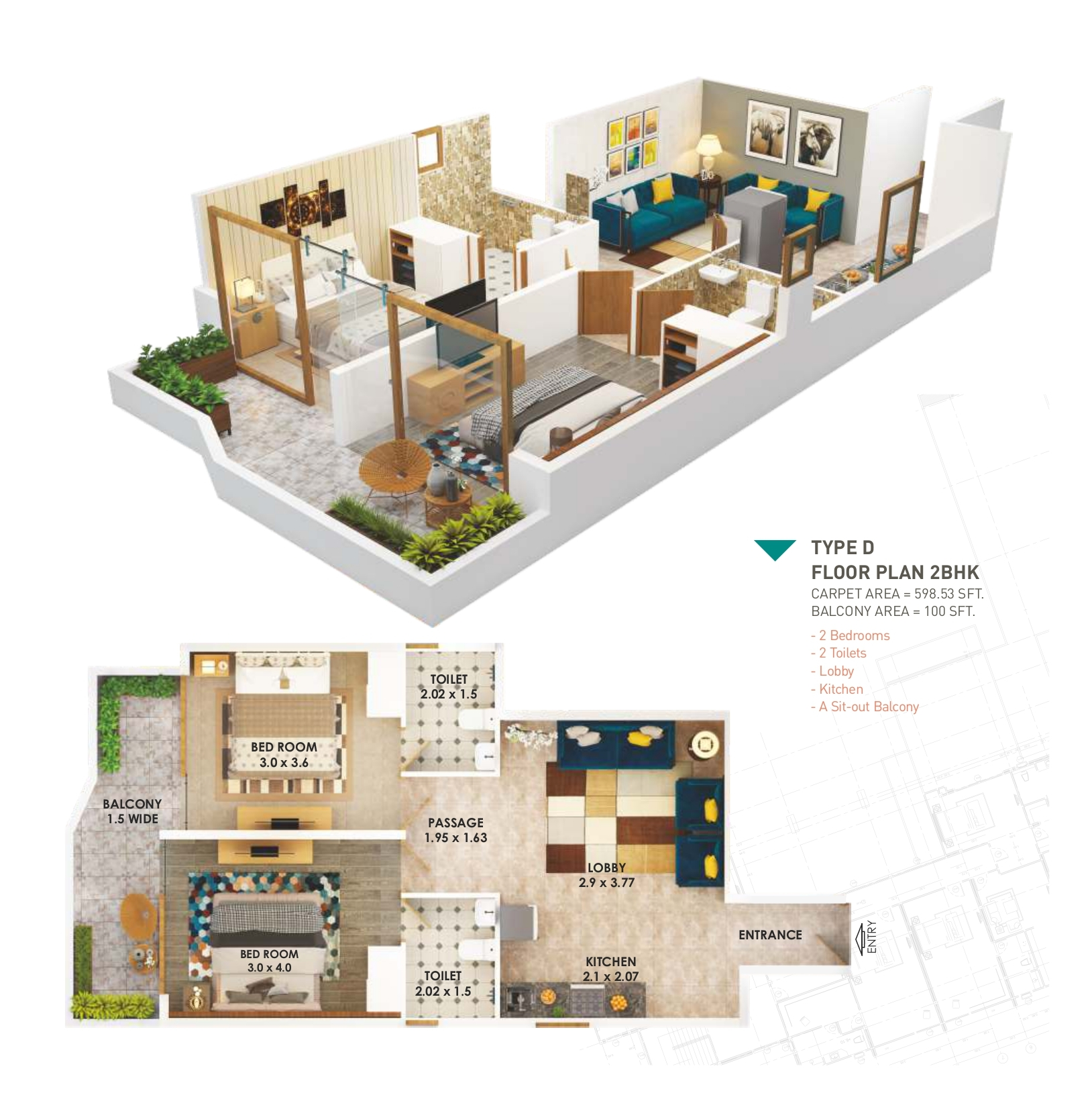 Pyramid Heights 2BHK Type D