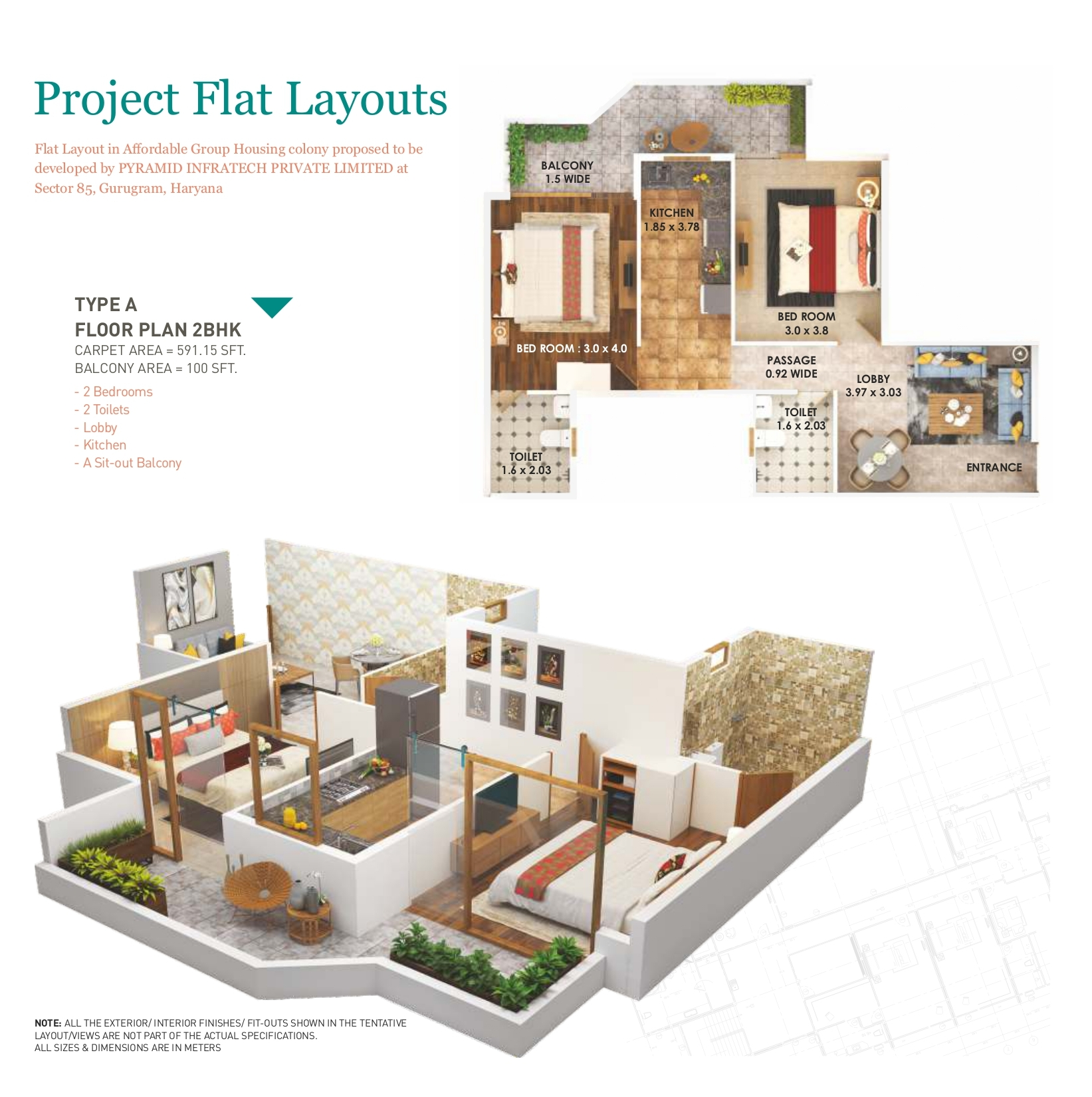 Pyramid Heights 2BHK Type A