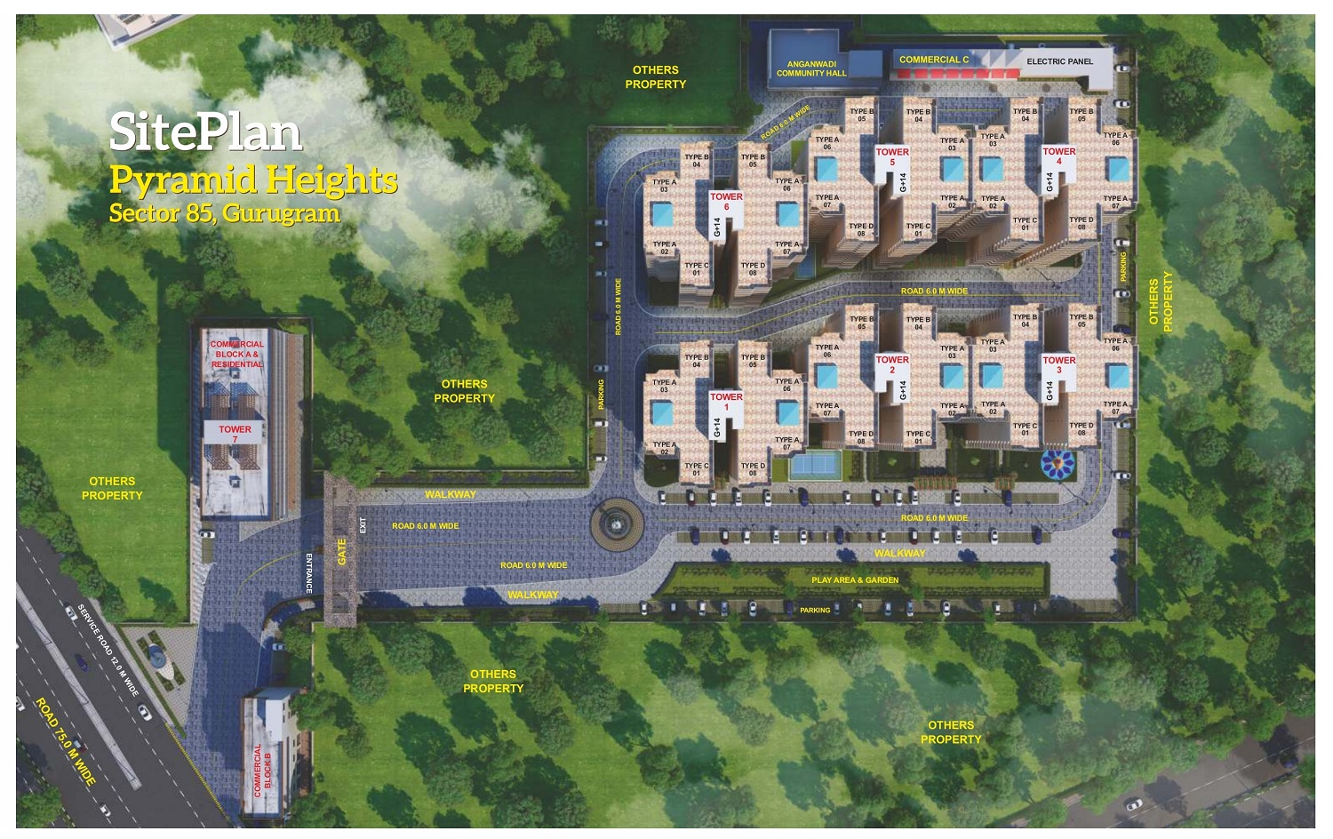Pyramid Heights Sector 85 Site Plan
