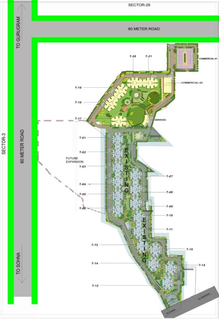 Site Layout GLS Arawali Homes 2