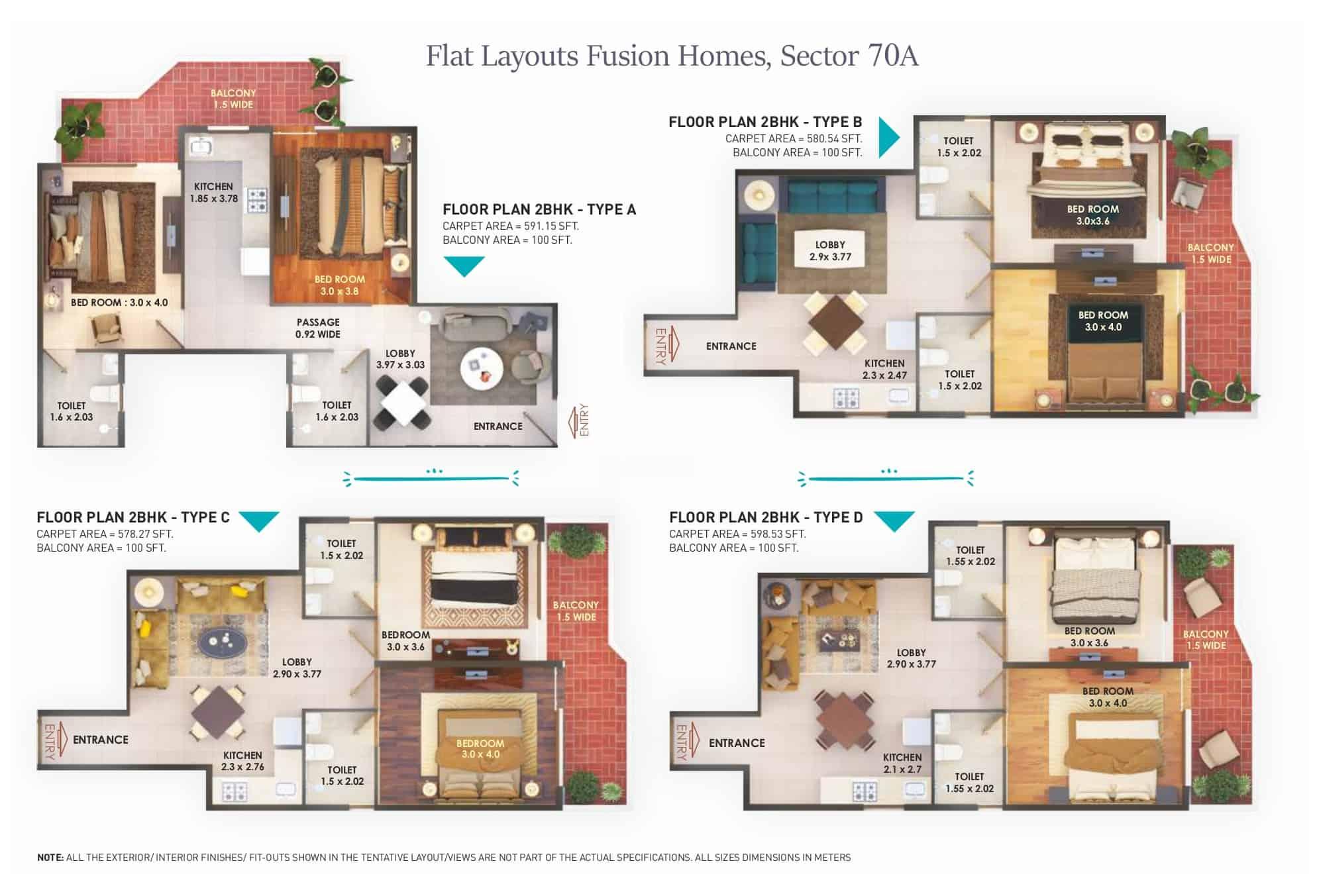 Floor Plans Pyramid Fusion Sector 70A Gurgaon