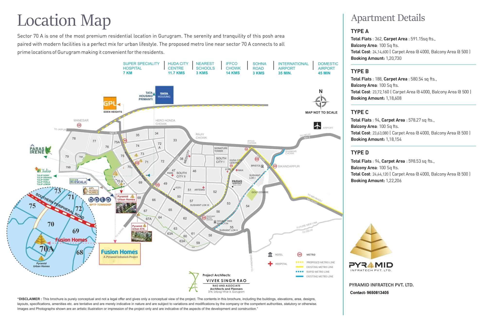 Location Map Pyramid Fusion homes