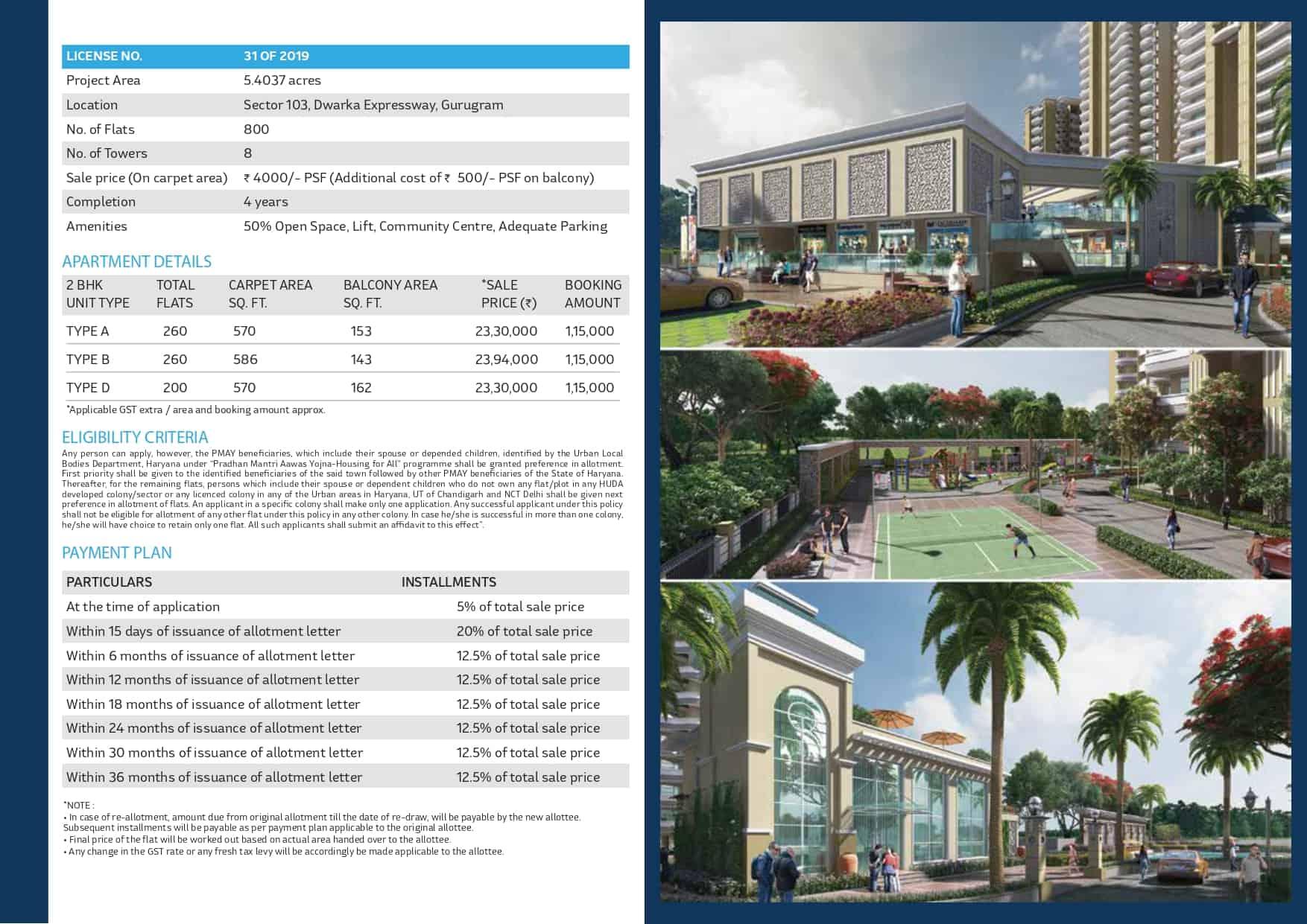 Mahira Homes Sector 103 Price List