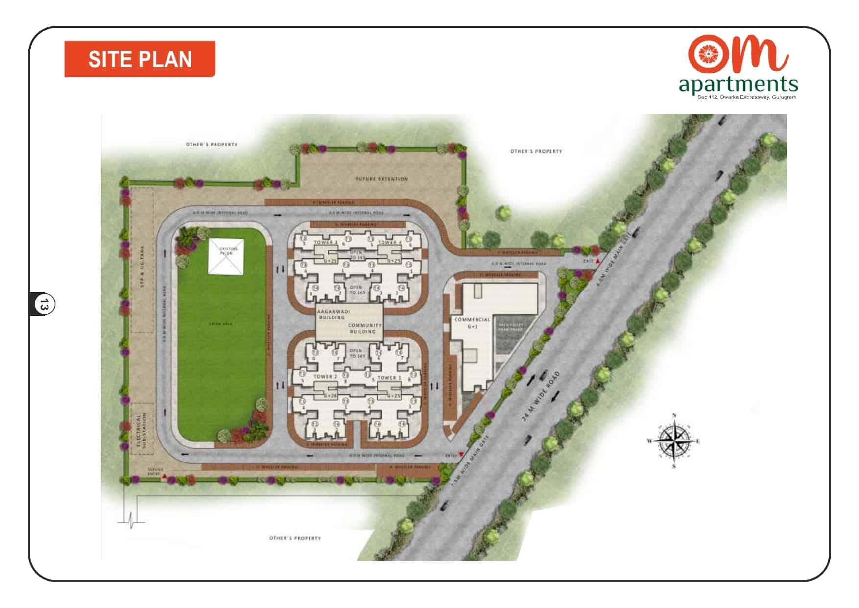 Site Plan Pareena Om Apartments 112