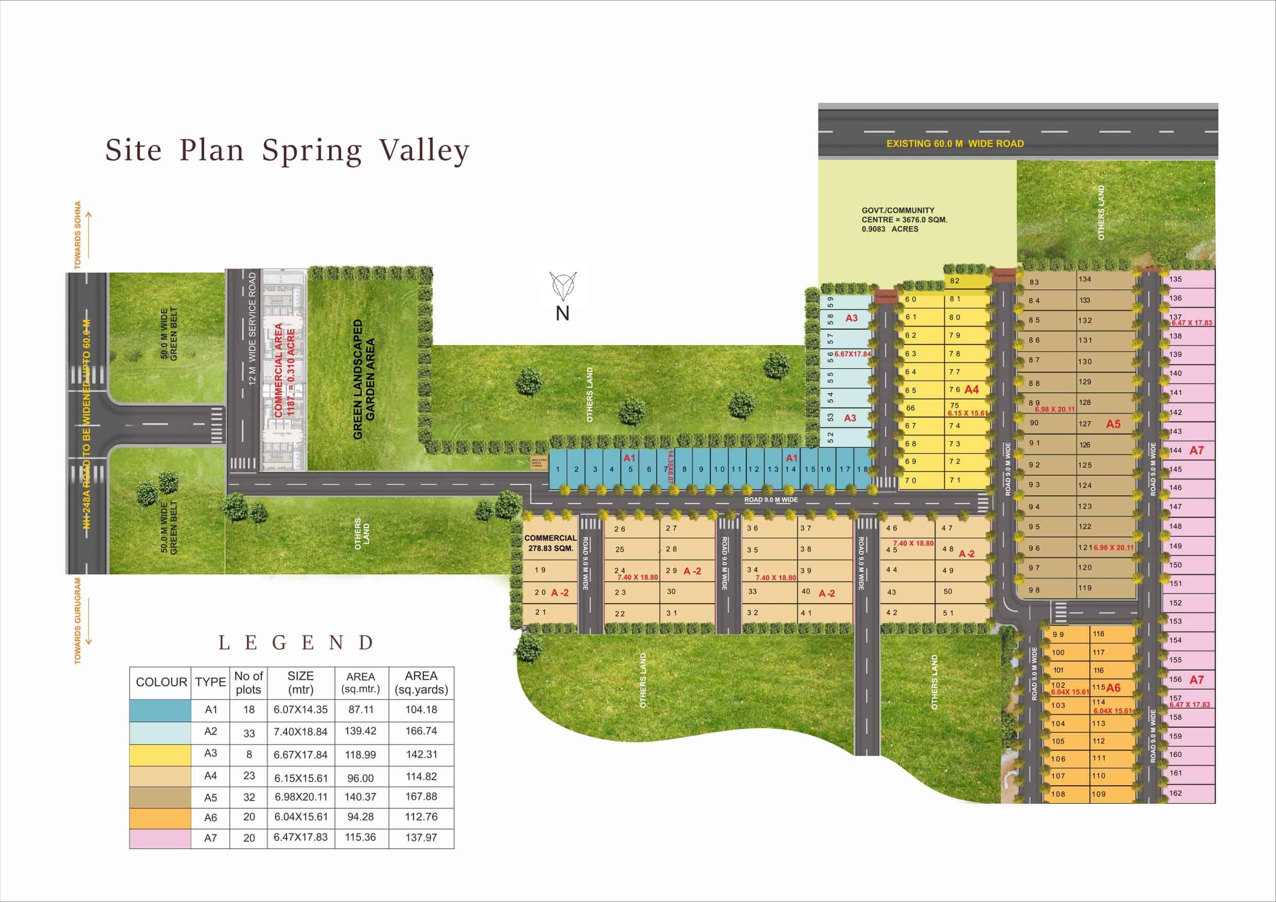 Pyramid Spring Valley Plots Site Plan