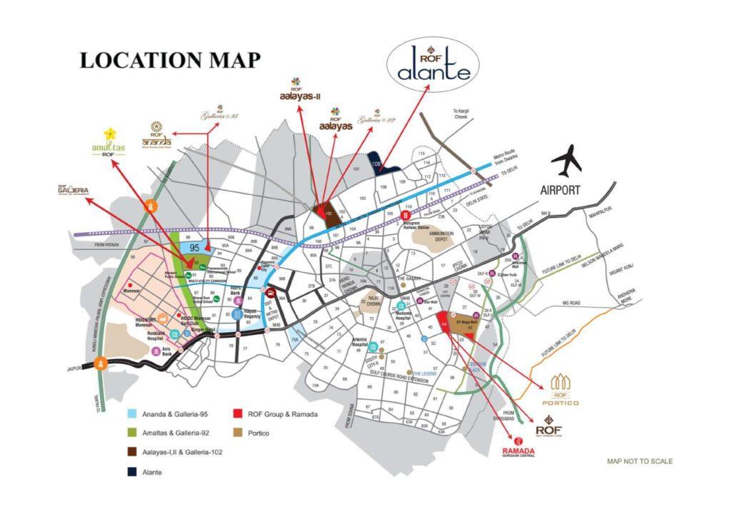 Location Map ROF Alante Sector 108 Gurugram